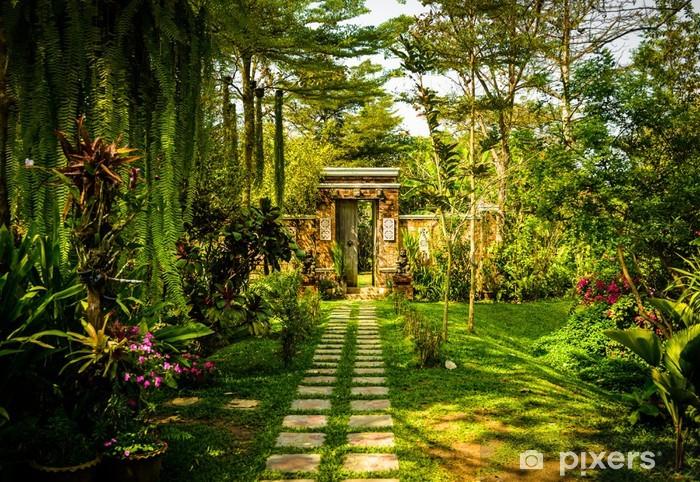 Nálepka Pixerstick Brána do ráje dveřmi v Thajsku zahradě. - Asie