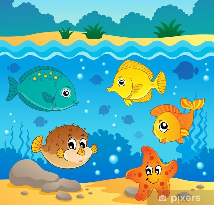 Papier peint vinyle Thème de la faune sous-marine de l'océan 4 - Thèmes