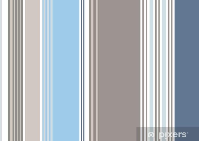 rayures bayadères bleu bleuet gris souris (cs5) Pixerstick Sticker - Themes
