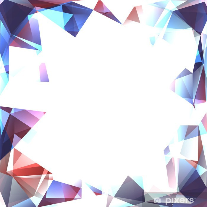 Plakat Abstrakcyjne tło polygone - Moda