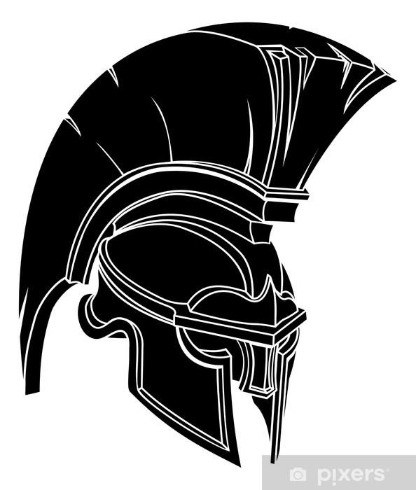 Papier peint vinyle Casque de Spartan ou cheval de troie - Réussite