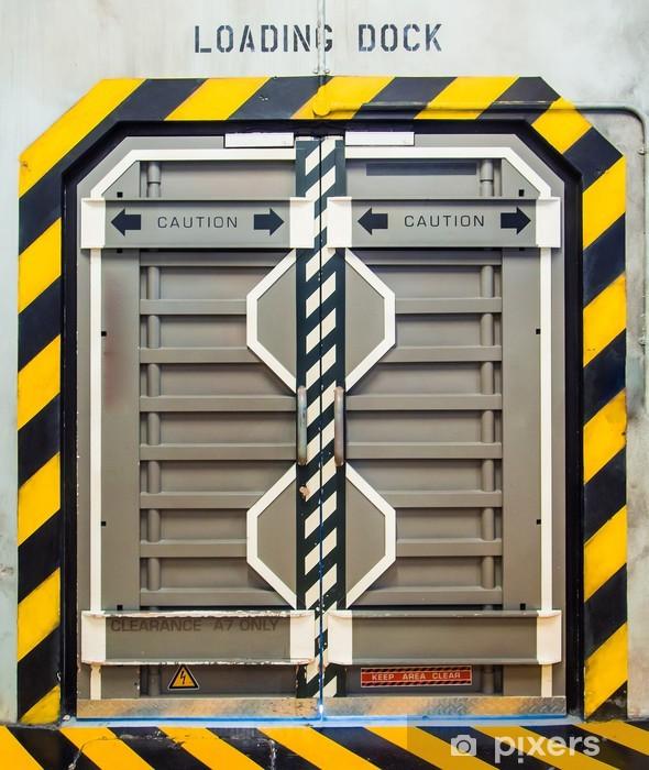Naklejka Pixerstick Futurystyczny metalowe drzwi - Style