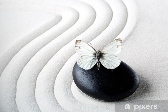 Sticker Pixerstick Zen stone avec papillon - Thèmes