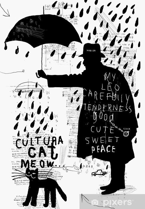 Fototapeta winylowa Człowiek z parasolem - Tematy