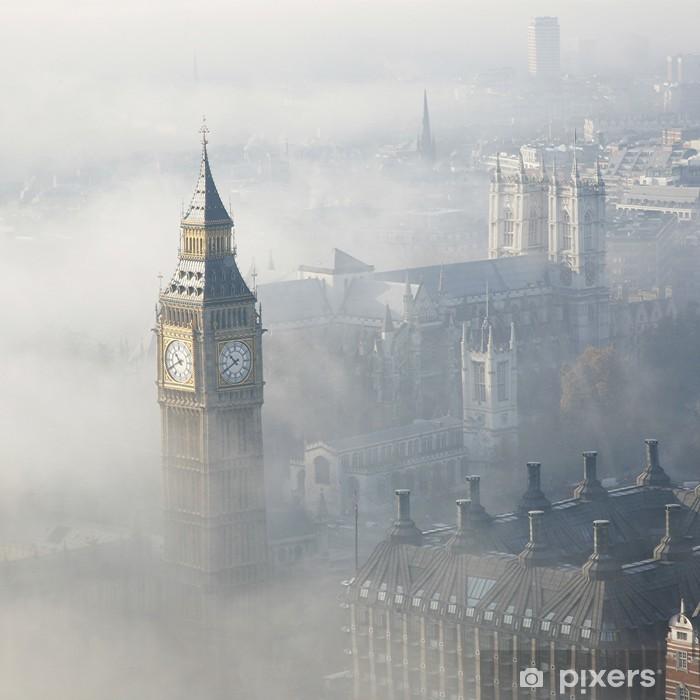 Heavy fog hits London Pixerstick Sticker - Themes