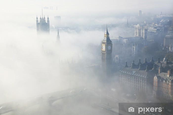 Vinyl Fotobehang Londen in dichte mist - Thema's