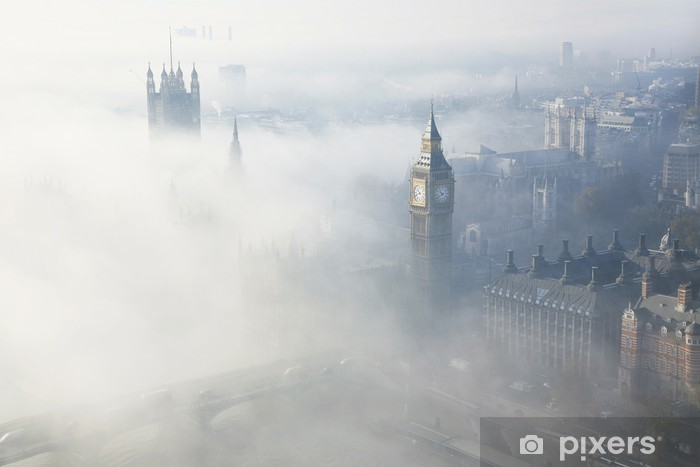 London in heavy fog Self-Adhesive Wall Mural - Themes