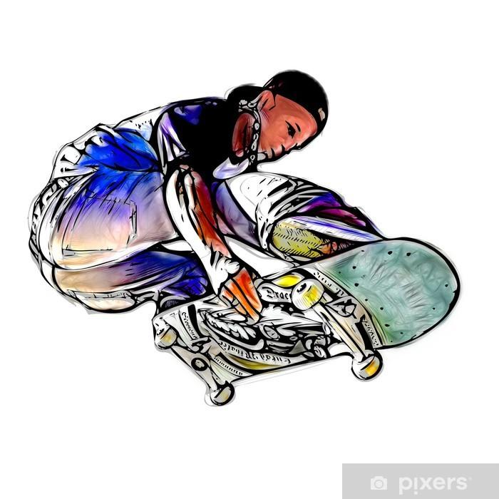 Póster Saltar skateboarder - Skate