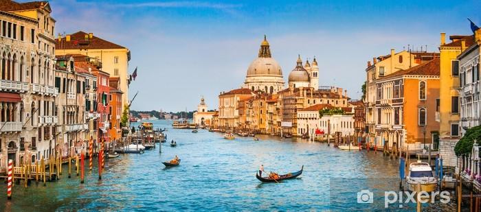 Fotomural Autoadhesivo Canal Grande panorama al atardecer, Venecia, Italia - Temas