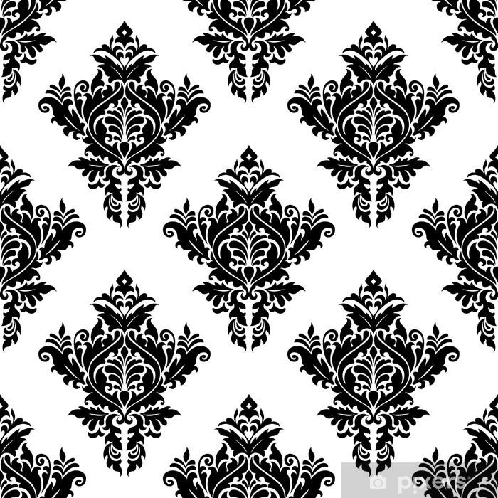 Papier peint vinyle Monochrome motif floral - Arrière plans