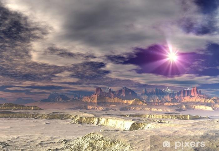 Fototapeta winylowa Alien Planet - Przestrzeń kosmiczna