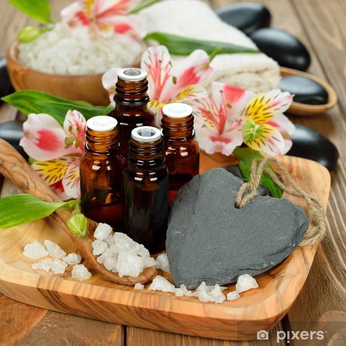 Sticker Pixerstick Huiles essentielles et des fleurs - Santé et médecine