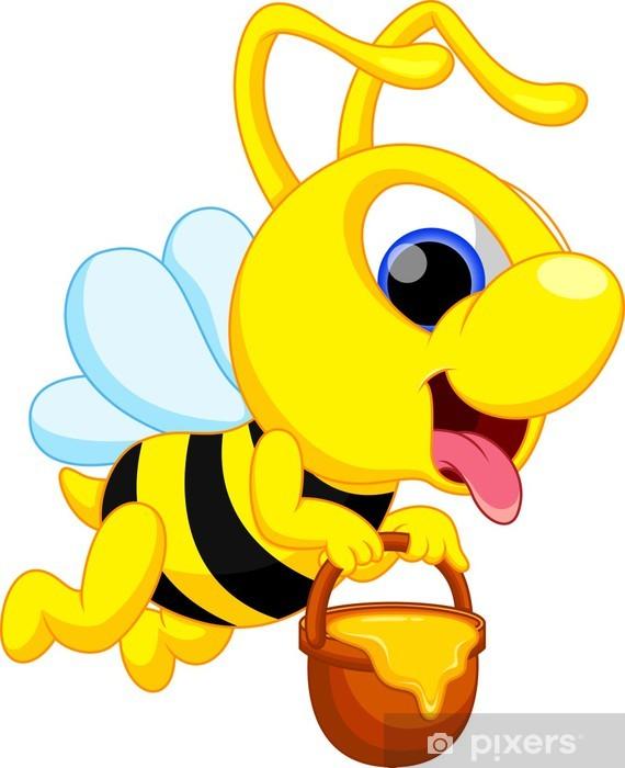 Sevimli Arı Karikatür çıkartması Pixerstick Pixers Haydi