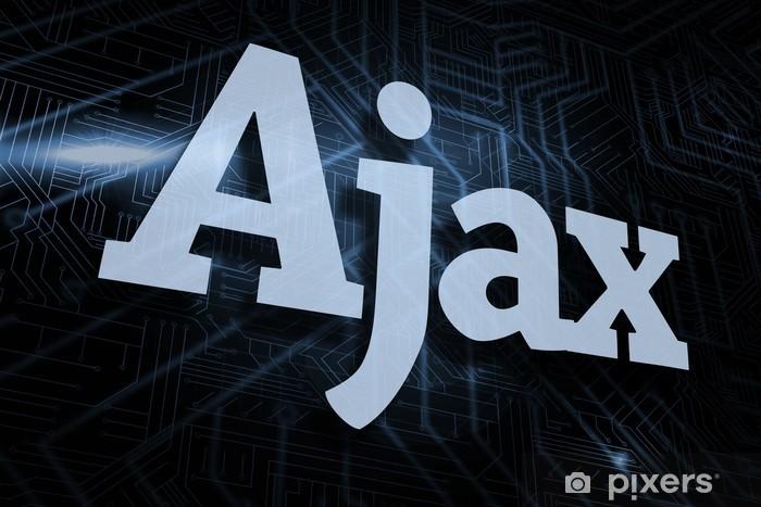 Ajax against futuristic black and blue background Pixerstick Sticker - Backgrounds
