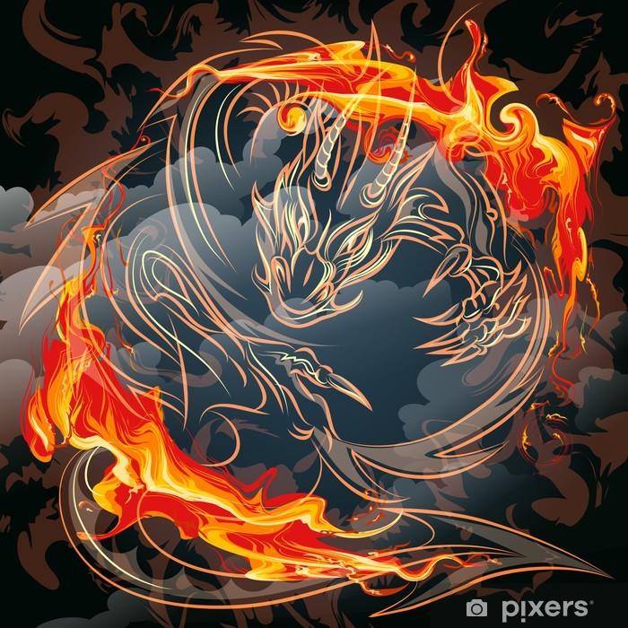 The fire dragon Vinyl Wall Mural - Themes