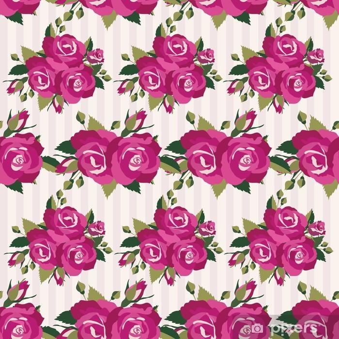 Poster Motif rose avec des roses inflorescence - Liberté