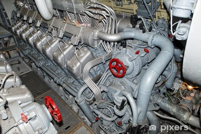 Papier peint vinyle Moteurs sous-marin diesel - Bateaux