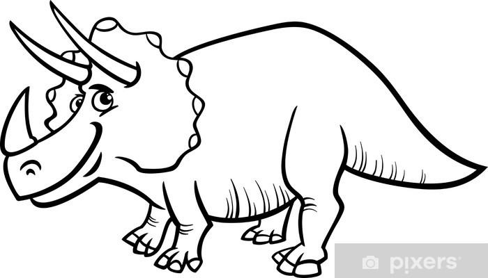 Triceratops Dinozor Boyama Duvar Resmi Pixers Haydi Dünyanızı