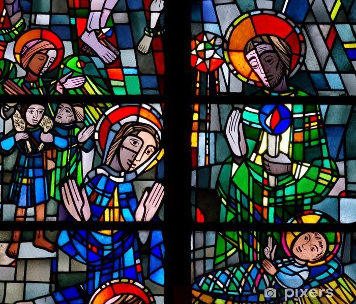 Poster Geburt Christi. Geburt von Jesus in der Glasmalerei - Öffentliche Gebäude