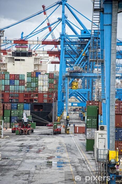 Vinilo Pixerstick Puesto de trabajo en el puerto - Infraestructuras