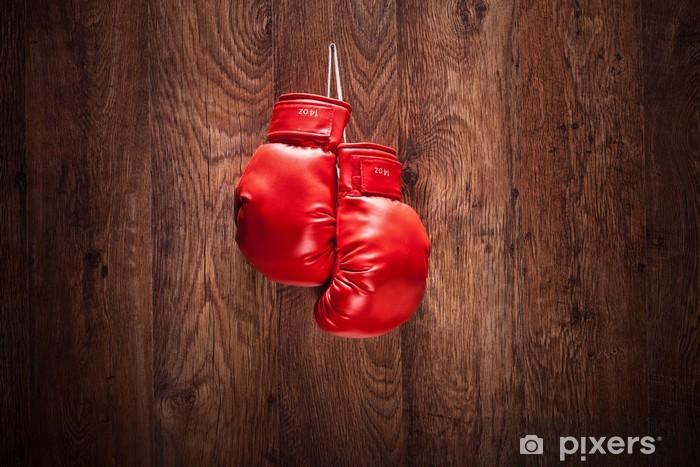 Fotomural Un Par De Guantes De Boxeo Colgado En Una Pared Pixers