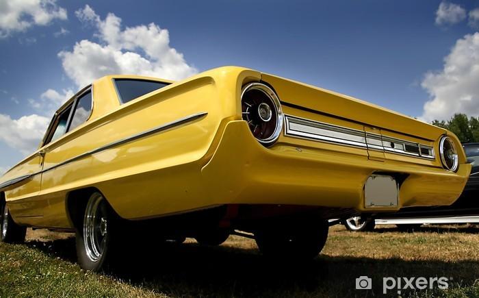Naklejka Pixerstick Żółta Classic Car - Transport drogowy