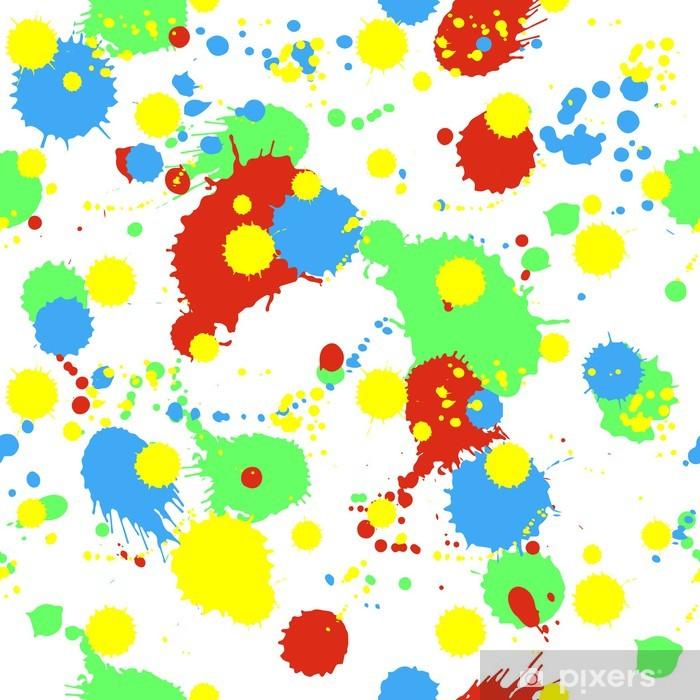 Vinyl Fotobehang Naadloos patroon met kleurrijke spatten, vlekken en vlekken - Thema's