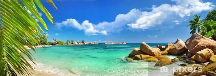 Sticker Pixerstick Vacances tropicales au paradis des îles des Seychelles - Maldives