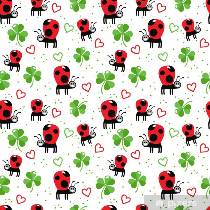 Ladybugs and clover Poster - Textures