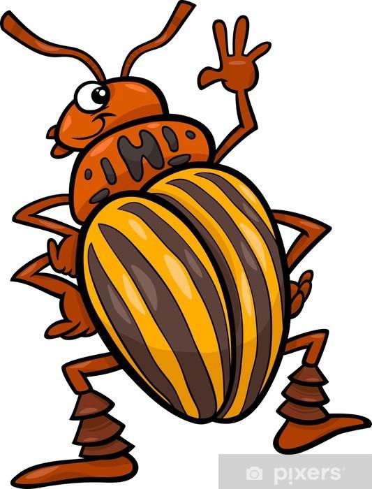 Nalepka Pixerstick Bramborovy Brouk Hmyz Kreslene Ilustrace Pixers