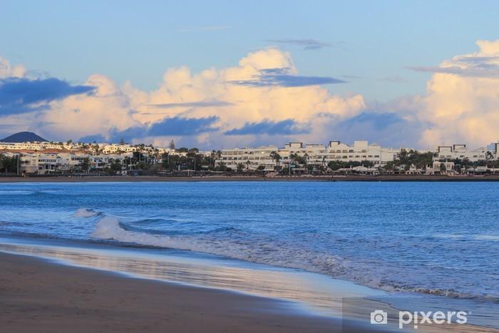 Sticker Pixerstick Plage de Lanzarote sur l'espagnol des Canaries - Art et création