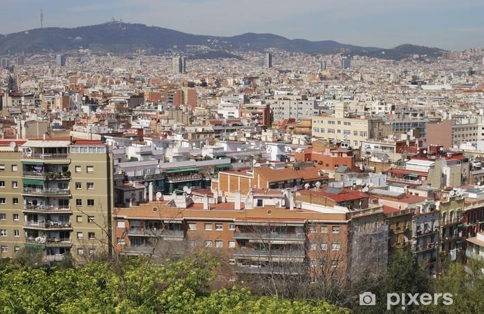 Papier peint vinyle Vue imprenable sur Barcelone, Catalogne, Espagne - Thèmes