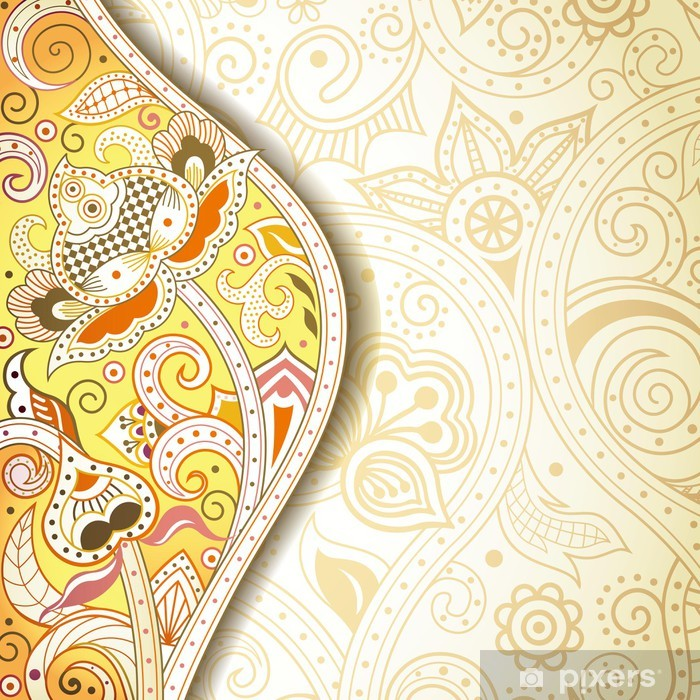 Fototapeta winylowa Streszczenie tle kwiatów żółty - Tła