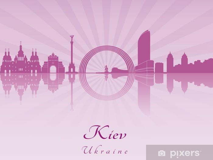 Papier peint vinyle Kiev horizon en violet orchidée rayonnante - Europe