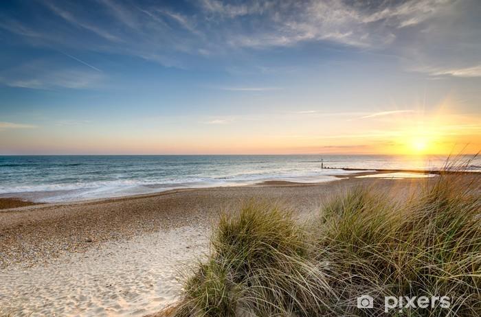 Fototapeta winylowa Wschód słońca na dzikiej plaży - Tematy