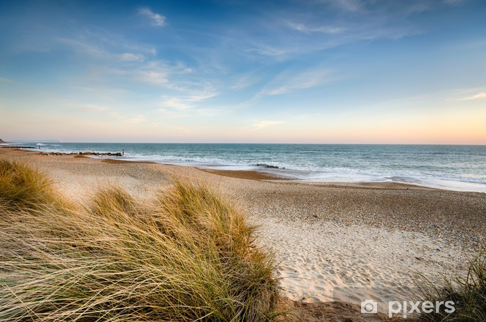 Vinyl Fotobehang Sand Dunes op Hengistbury Head - Thema's