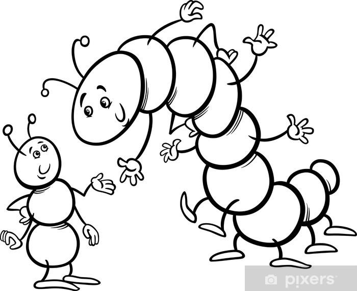Karınca Ve Tırtıl Boyama Duvar Resmi Pixers Haydi Dünyanızı