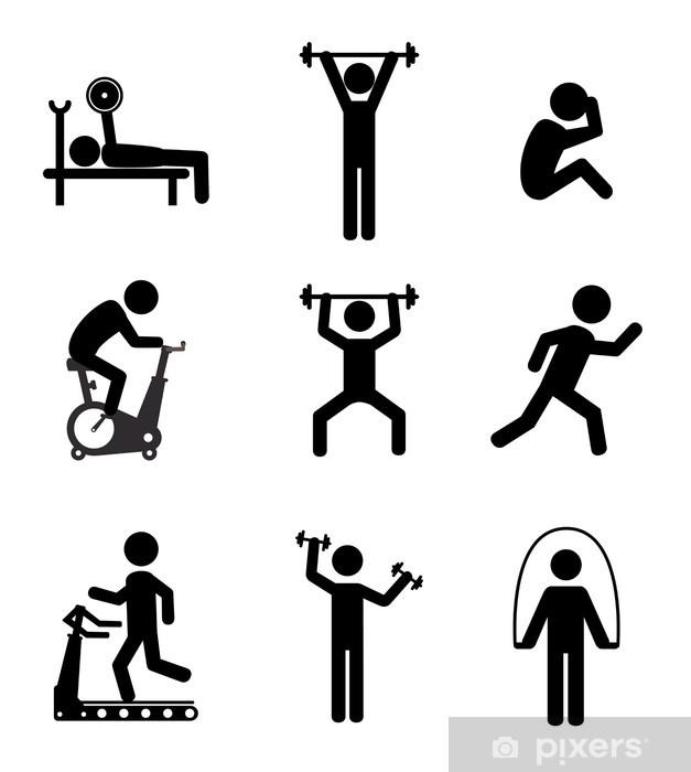 Sticker Pixerstick Conception de remise en forme - Articles de sport