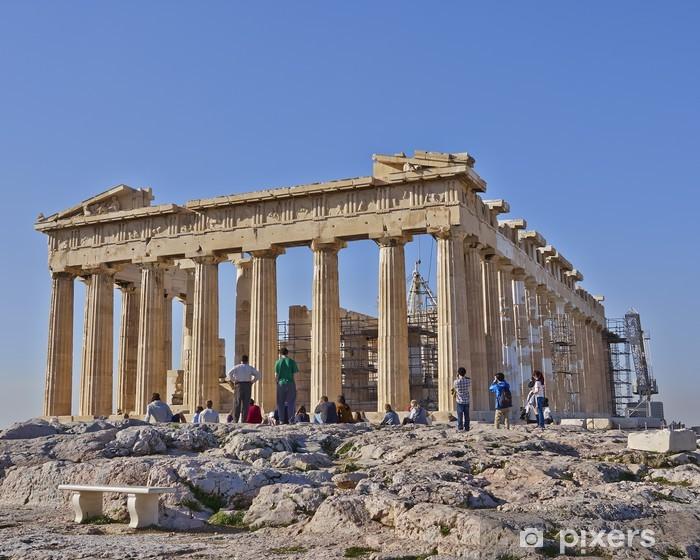 Papier peint vinyle Touristes devant le Parthénon, l'Acropole d'Athènes, Grèce - Thèmes