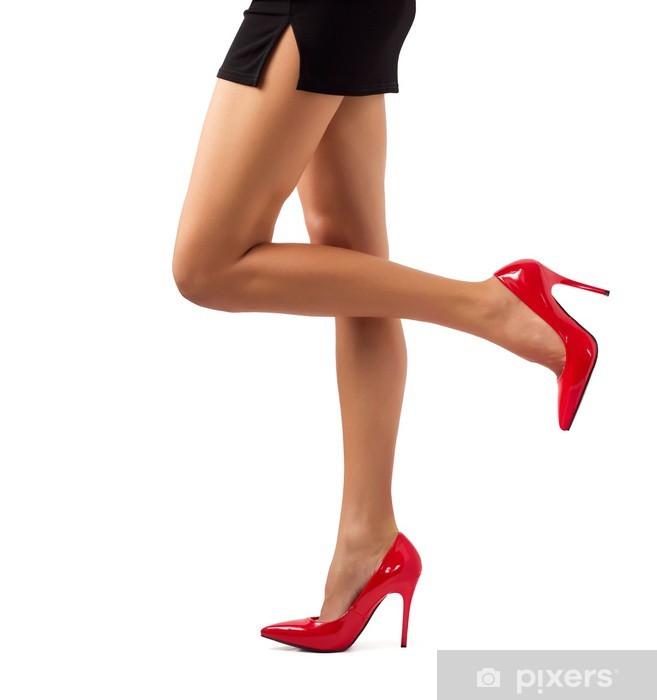 7fa56109284 Pixerstick Sticker Sexy vrouwen benen in rode hoge hak schoenen - Thema's