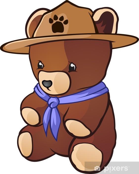 Papier peint vinyle Caractère Teddy Bear Cub Scout Cartoon - Mammifères