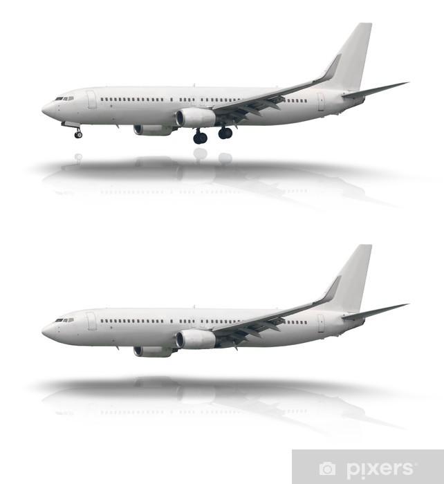 Vinyl-Fototapete Flugzeuge, die isoliert mit und ohne Rad - Luftverkehr