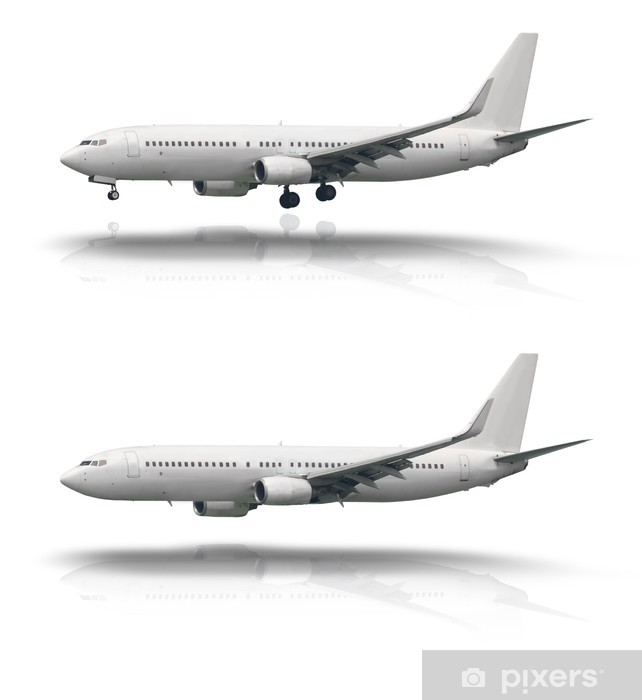 Aircraft isolated with and without wheel Vinyl Wall Mural - Air