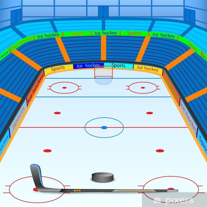 Naklejka Pixerstick Hokej na lodzie - Artykuły sportowe