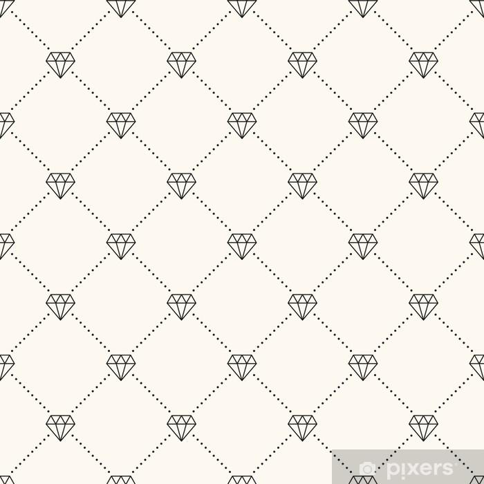 Vector seamless retro pattern, with diamonds. Vinyl Wall Mural -