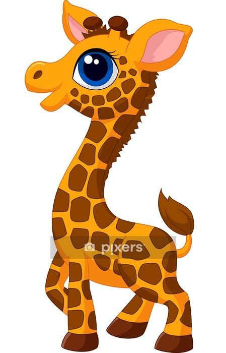 Adesivo da Parete Cute baby giraffa di cartone animato - Adesivo da parete