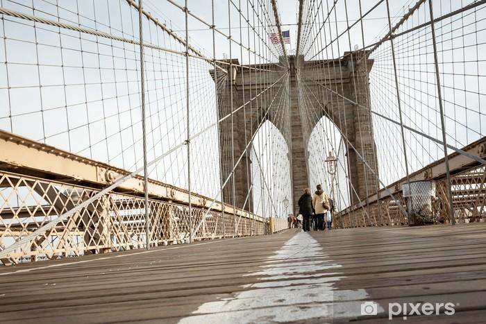 Papier peint vinyle Bridge new york - Villes américaines