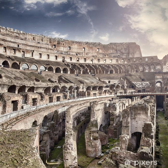 Naklejka Pixerstick Wewnątrz Koloseum - Włochy