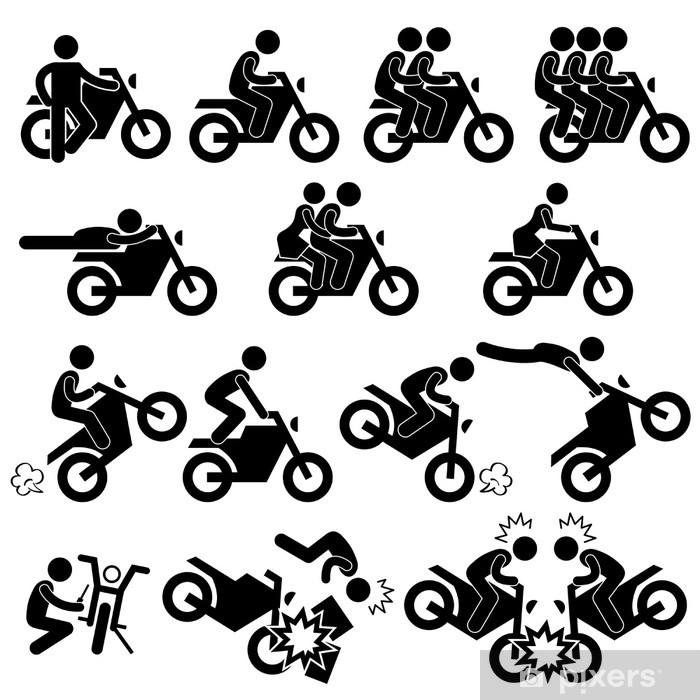 Aufkleber Motorrad Motorrad Motor Bike Stunt Man Daredevil Pixerstick