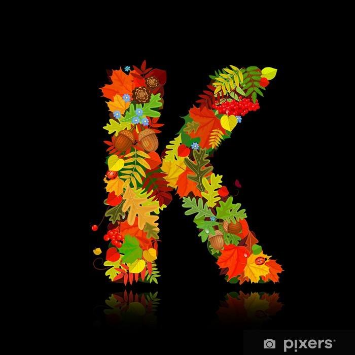 Fototapeta Piękne Jesienne Liście Litera K Pixers żyjemy By
